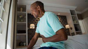 Man having abdominal pain