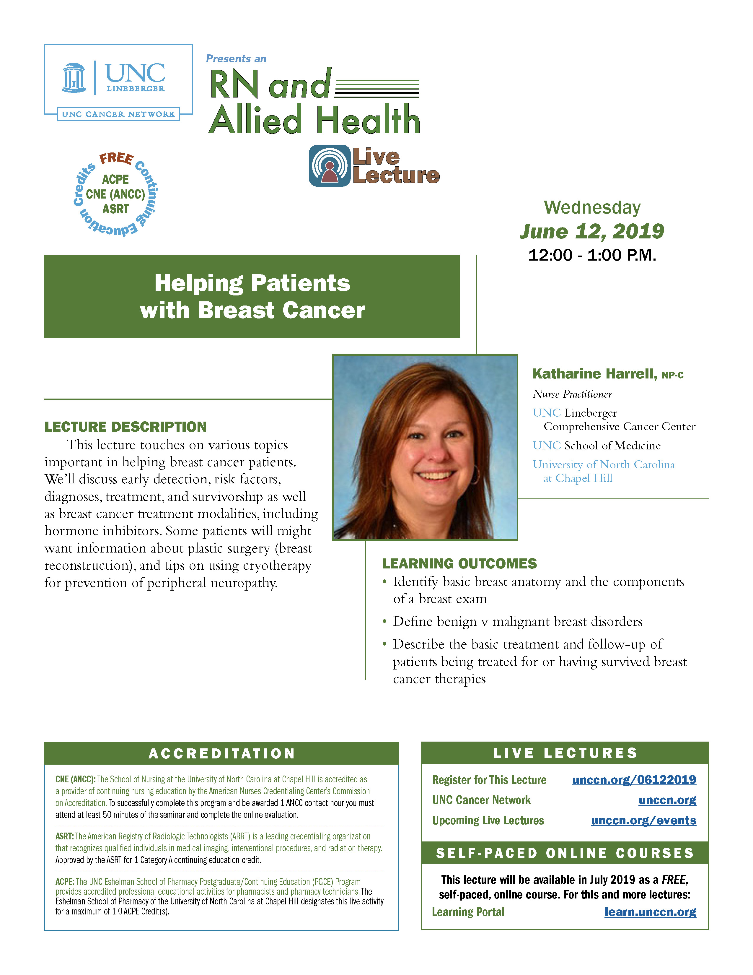 Helping Patients with Breast Cancer — RN and Allied Health