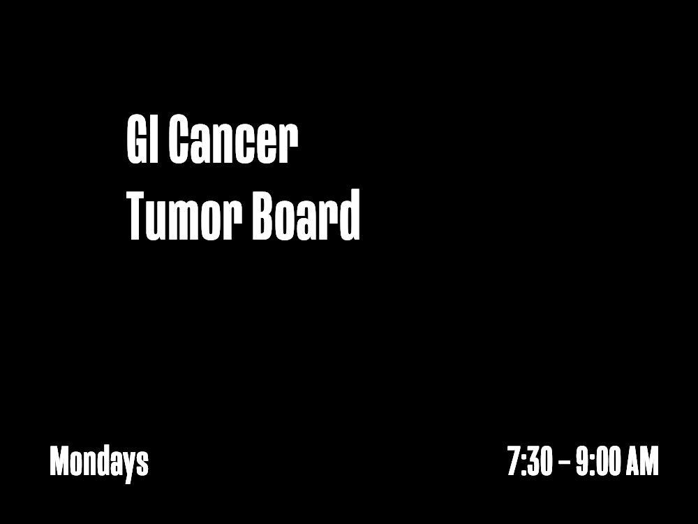 GI Cancer Tumor Board