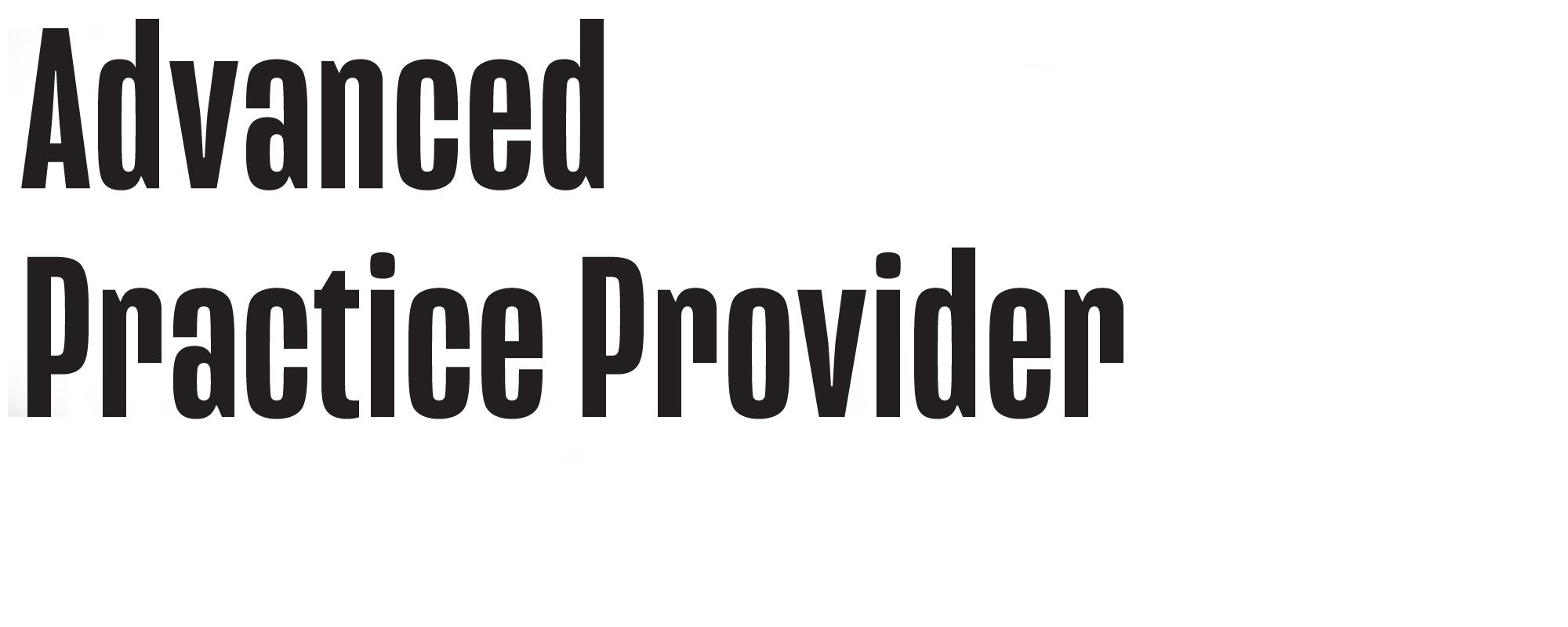 Advanced Practice Provider