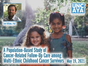 A Population-Based Study of Cancer-Related Follow-Up Care among Multi-Ethnic Childhood Cancer Survivors – Joel Milam, PhD — Wednesday, May 19th at 10:00 AM (Adolescent and Young Adult)