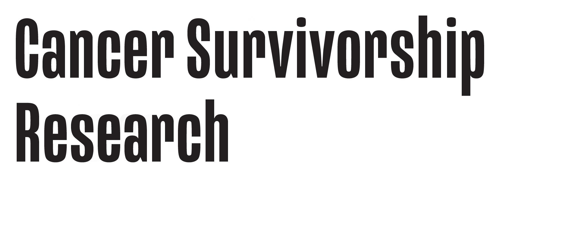 Cancer Survivorship Research Logo