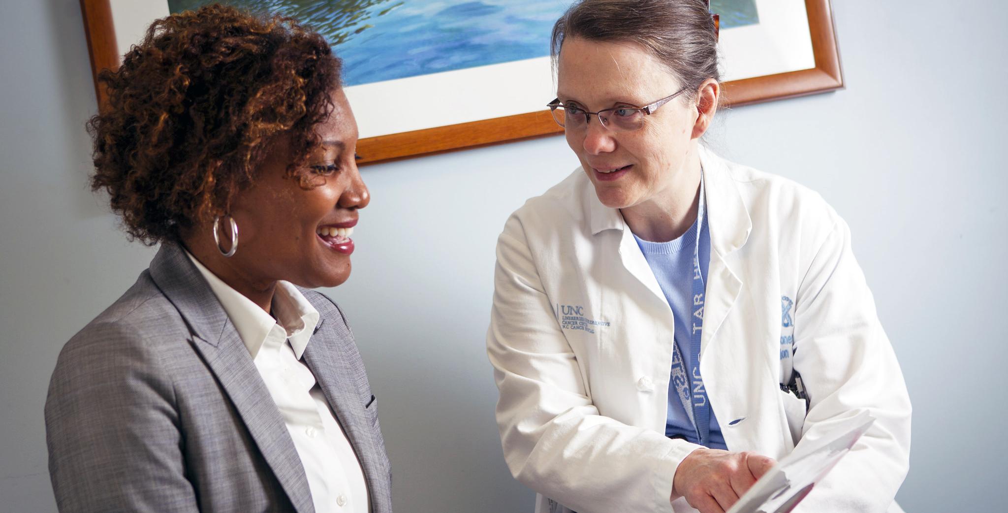 Ellen Jones Providing Patient Care