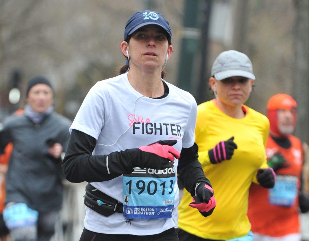 Amy at the 2015 Boston Marathon