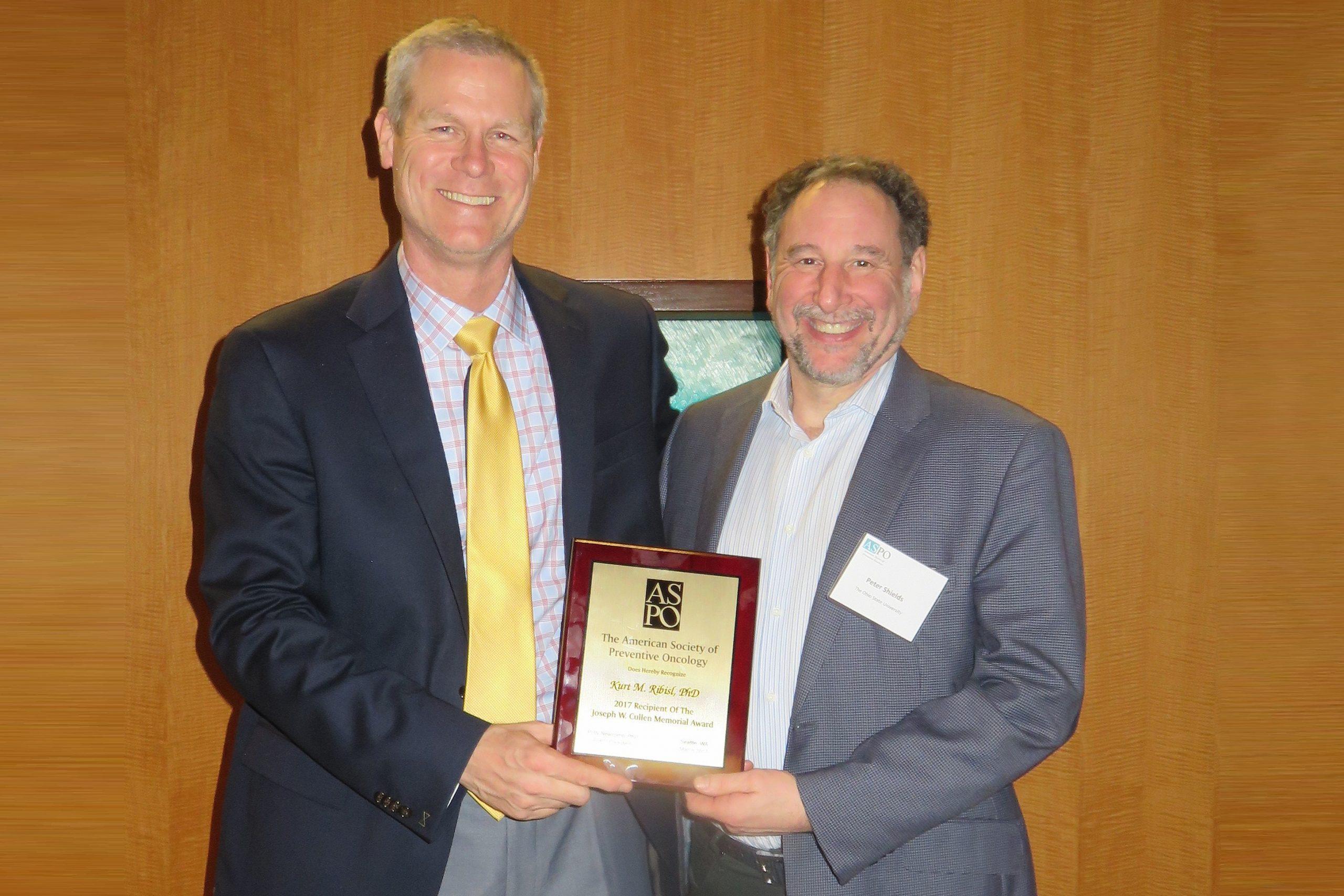 ASPO honors Ribisl with Joseph W. Cullen Memorial Award ...