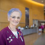 Linda Woodard worked for 34 years at UNC and now volunteers at the N.C. Cancer Hospital as a patient registration navigator.