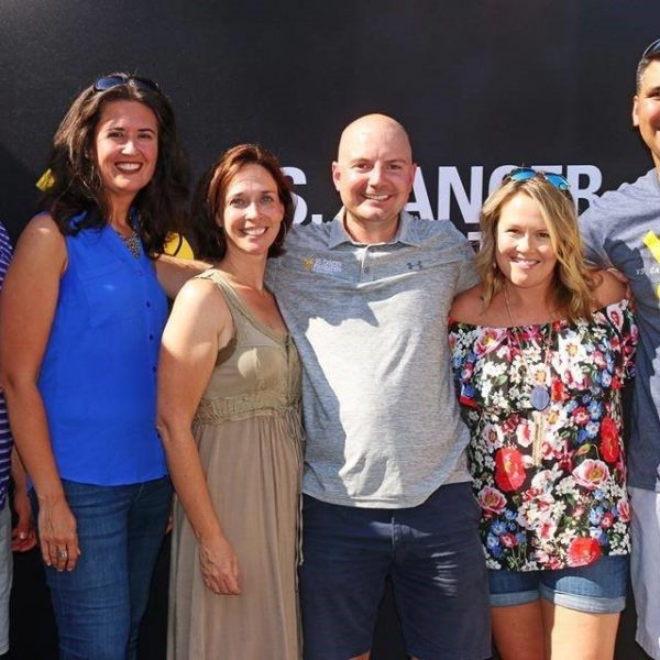 Vs. Cancer team From L to R: Brant Masters, Tiffany Drummond Armstrong, Kathleen Kenney, Chase Jones (founder), Ashleigh Kincaid, and Eric Stahl
