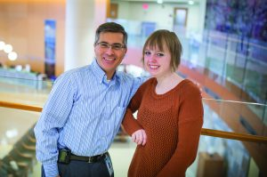 Ian Davis, MD, PhD, and Lily Newton