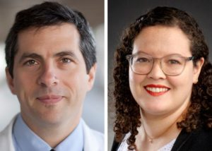 UNC Lineberger's Timothy Gershon, MD, PhD, and Jennifer Ocasio, PhD, who identified a possible approach to blocking medulloblastoma brain tumor growth