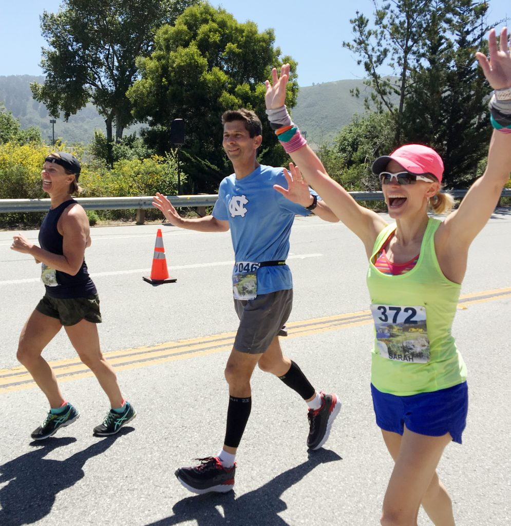 Jeff Cobb crosses the finish line of the Big Sur race
