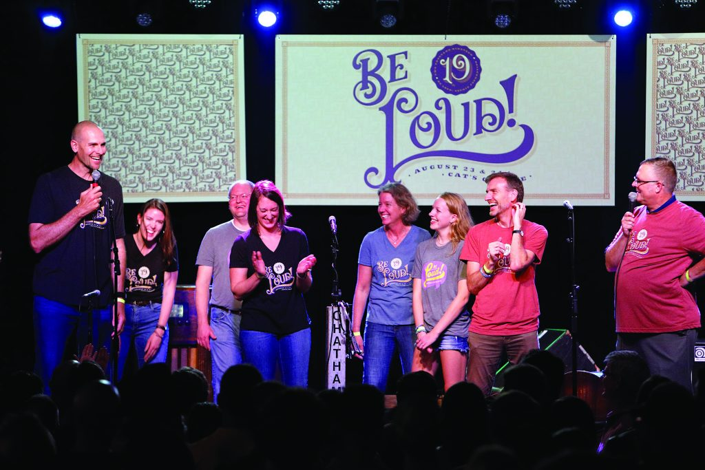 Be Loud Sophie Foundation concert, a fundraiser that supports the AYA Program at UNC Lineberger