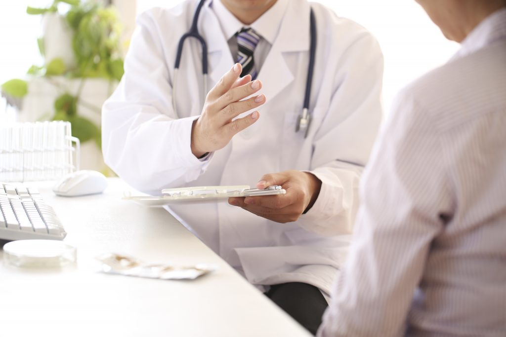 Doctor meeting with a patient