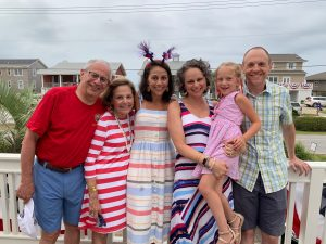 Beth Silverstein with her family.