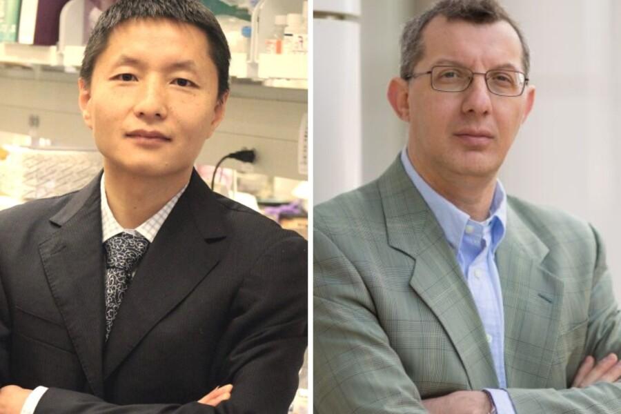 Headshots of Hongwei Du and Gianpietro Dotti