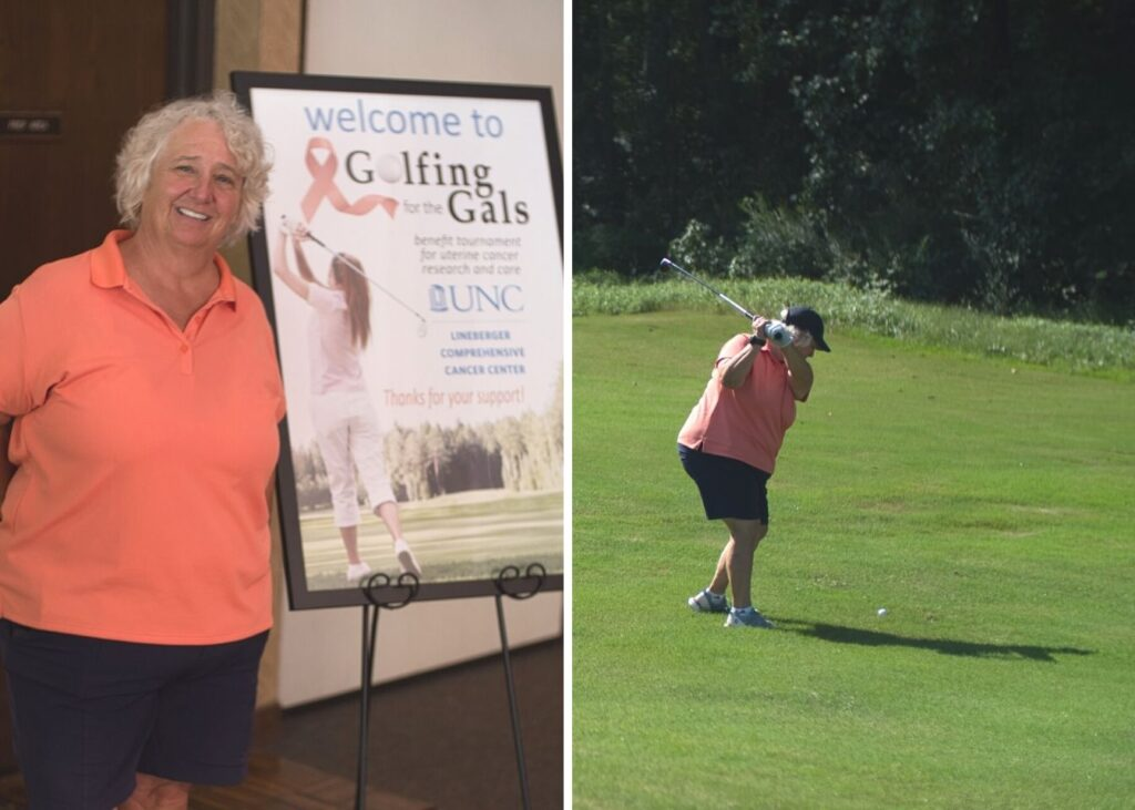 Lisa Milligan at her event, Golfing for the Gals